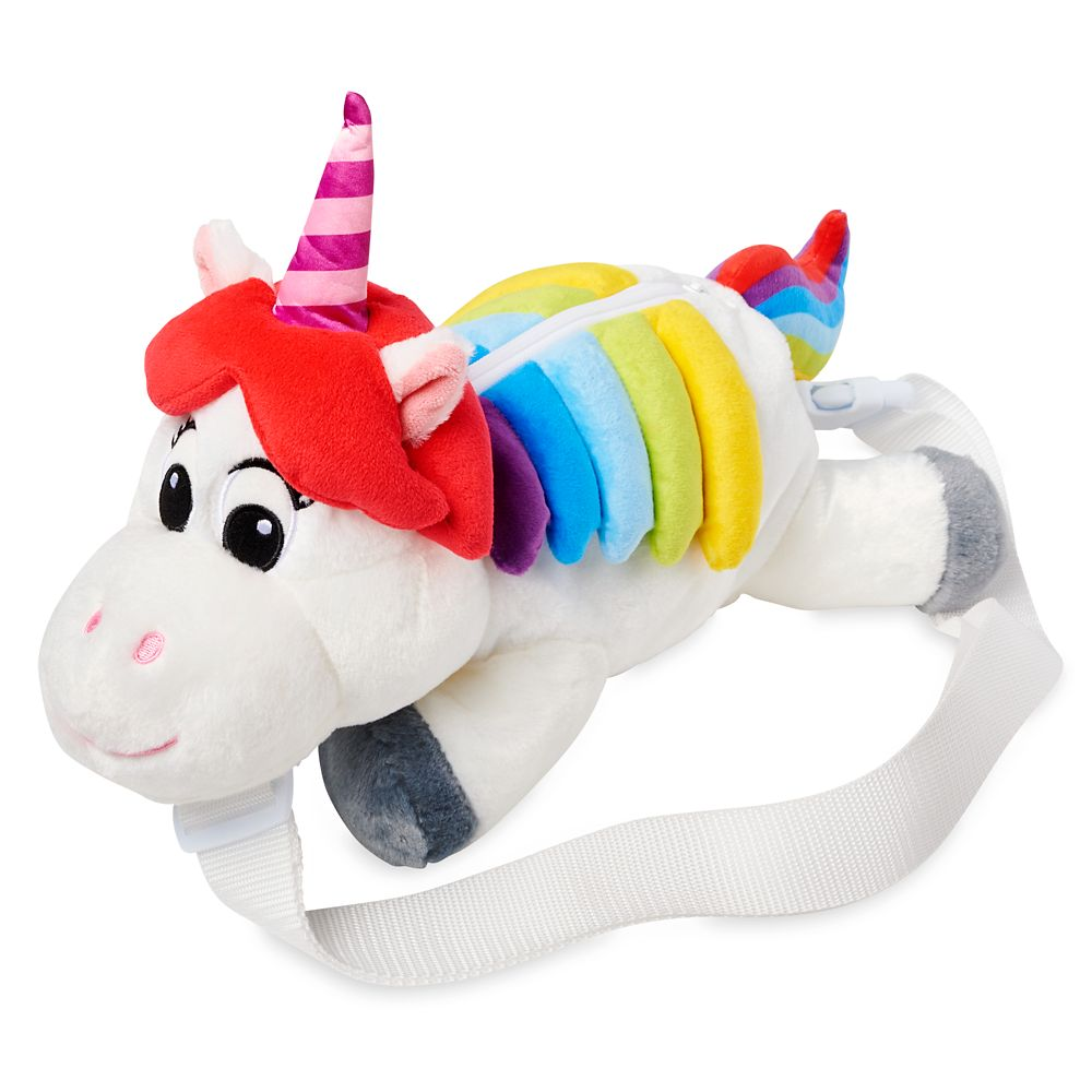 Rainbow Unicorn Plush Backpack – Inside Out