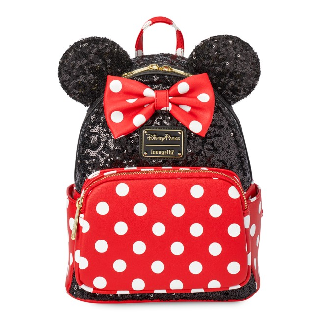 Minnie Mouse Sequin and Polka Dot Mini Loungefly Backpack