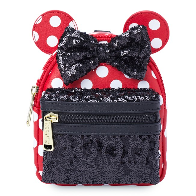 Minnie Mouse Sequin and Polka Dot Loungefly Wristlet
