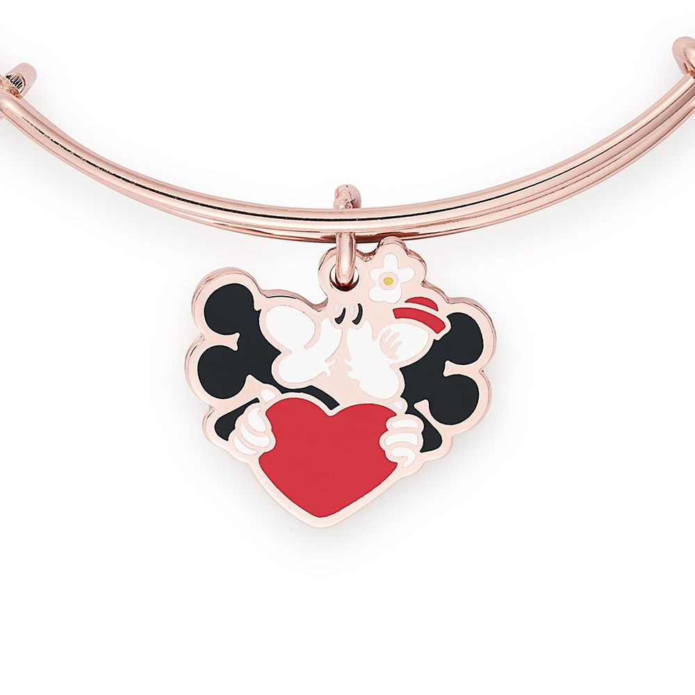 Mickey and Minnie Mouse Kissing Bangle by Alex and Ani