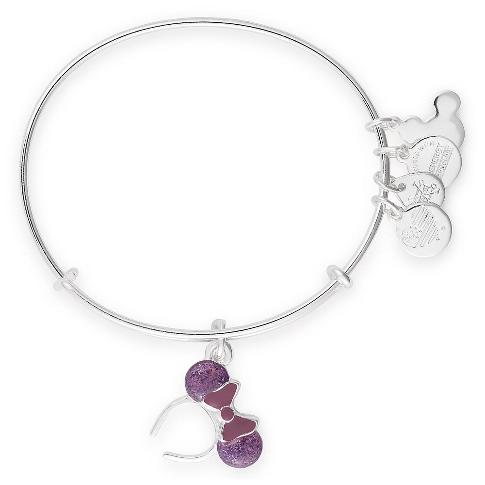 Minnie Mouse Ear Headband Bangle by Alex and Ani – Purple
