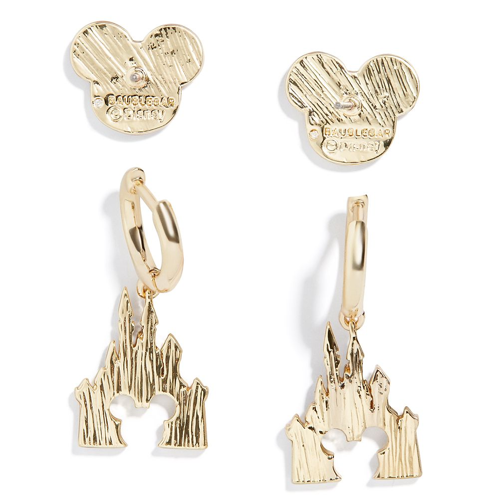 Mickey Mouse Icon and Fantasyland Castle Earring Set by BaubleBar