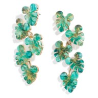 Mickey Mouse Tropical Leaf Earrings by BaubleBar