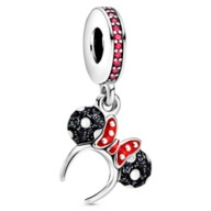 Minnie Mouse Black and White Ear Headband Charm by Pandora Jewelry