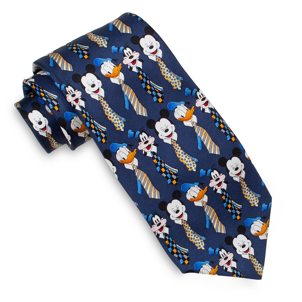Silk Mickey Mouse, Donald Duck and Goofy Tie for Men