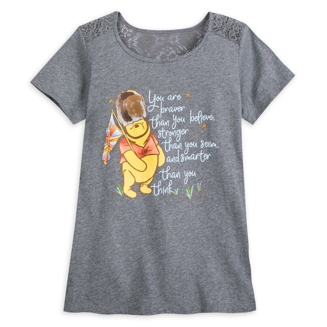 Winnie the Pooh Classic Lace T-Shirt for Women
