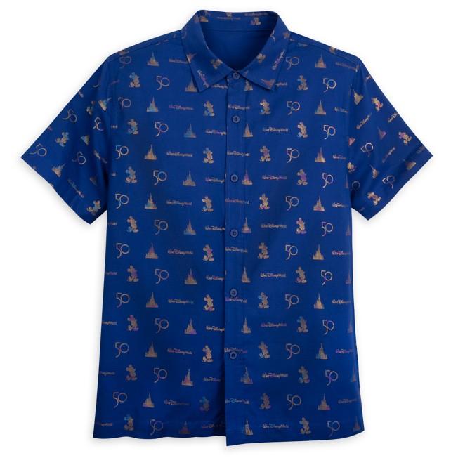 Walt Disney World 50th Anniversary Woven Shirt for Adults