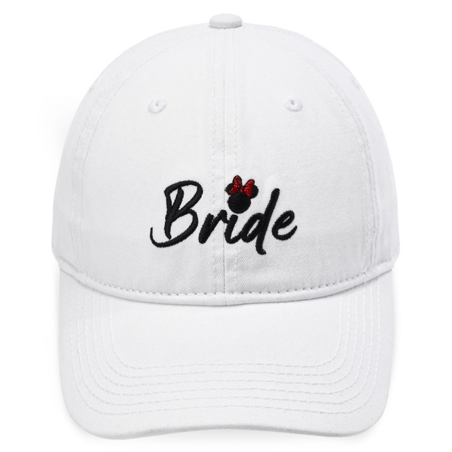 Minnie Mouse Icon Bride Baseball Cap for Adults