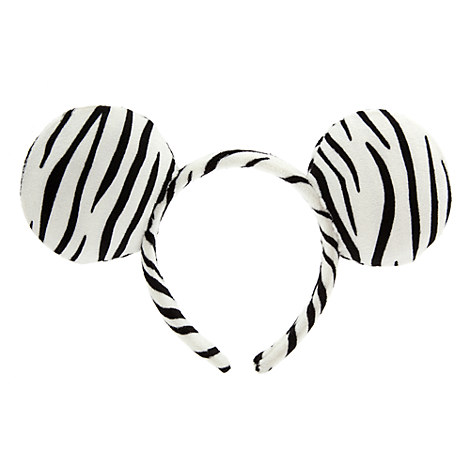 Minnie Mouse Ear Headband - Zebra