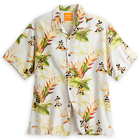 Mickey Mouse Aloha Shirt for Men by Tommy Bahama - White