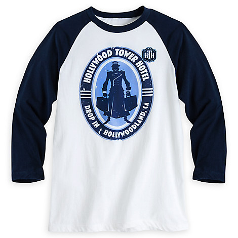 Hollywood Tower Hotel Baseball Tee for Men