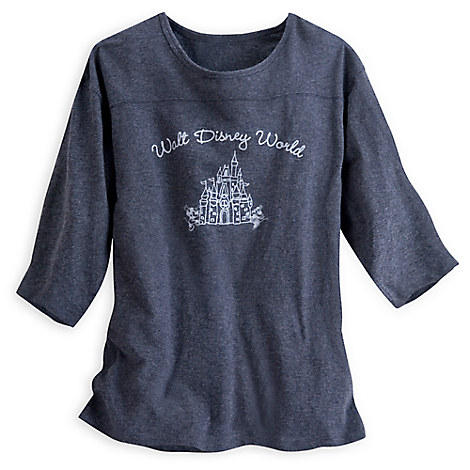Mickey and Minnie Cinderella Castle Tee for Women - Walt Disney World