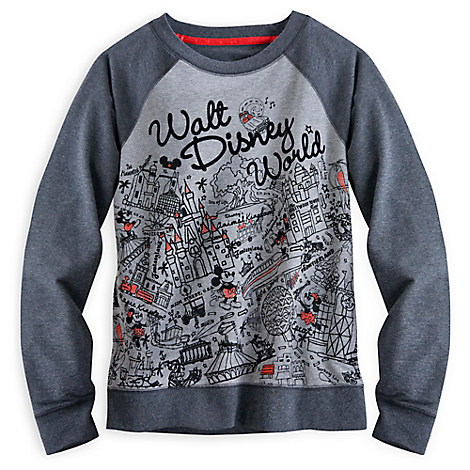 Mickey and Minnie Mouse Raglan Sleeve Top for Women - Walt Disney World