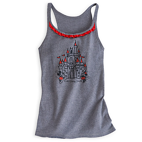 Mickey and Minnie Mouse Cinderella Castle Tank Tee for Women - Walt Disney World