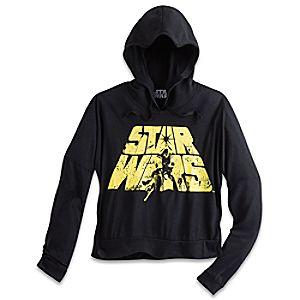 Star Wars Long Sleeve Hooded Fashion Tee for Women