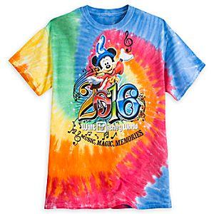 Sorcerer Mickey Mouse Tie-Dye Tee for Adults - Walt Disney World 2016