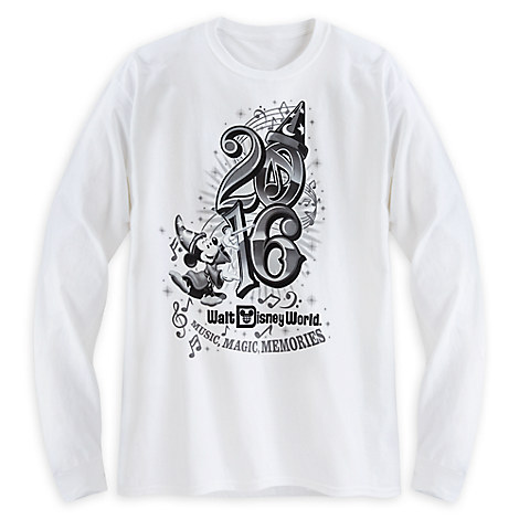 Sorcerer Mickey Mouse Long Sleeve Tee for Adults - Walt Disney World 2016