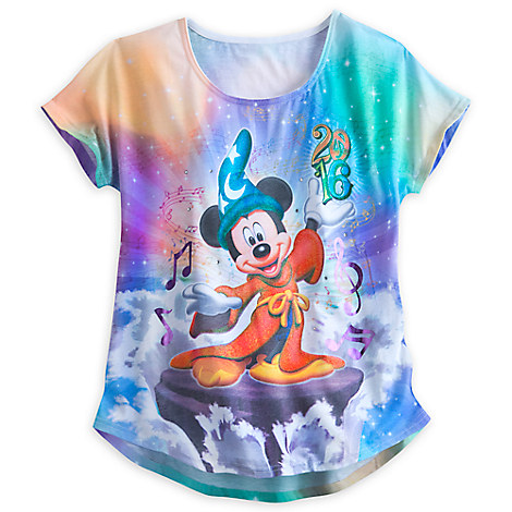 Sorcerer Mickey Mouse Sublimated Tee for Women - Walt Disney World 2016