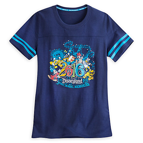 Sorcerer Mickey Mouse and Friends Athletic Tee for Women - Disneyland 2016