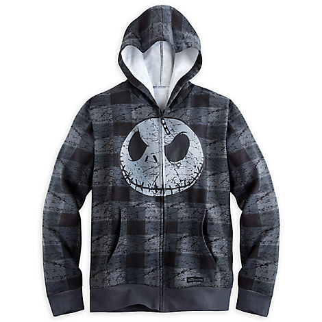 Jack Skellington Plaid Zip Hoodie for Men