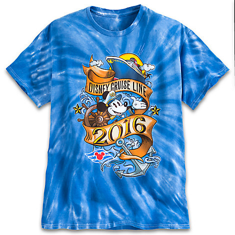 Captain Mickey Mouse Tie-Dye Tee for Adults - Disney Cruise Line 2016