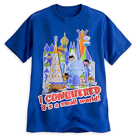''it's a small world'' Tee for Adults