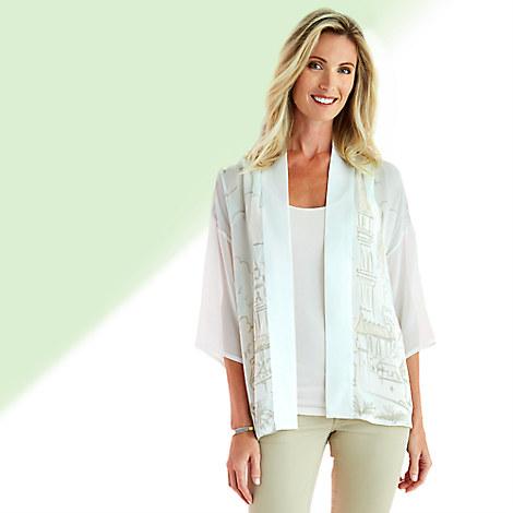 Fantasyland Castle Silk Kimono Top for Women - Kingdom Couture Collection
