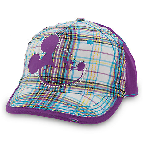 Mickey Mouse Plaid Baseball Cap for Adults