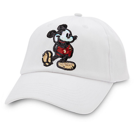 Mickey Mouse Sequined Baseball Cap for Adults