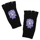 Jack Skellington Knit Fingerless Gloves for Adults