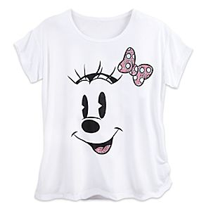 Minnie Mouse Rhinestone Tee for Women - Disney Boutique
