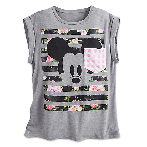 Mickey Mouse Fashion Tee with Pocket for Women - Disney Boutique