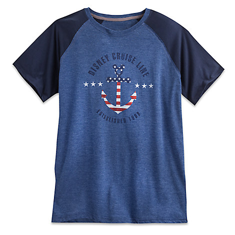 Mickey Mouse Icon Anchor Raglan Tee for Men - Disney Cruise Line