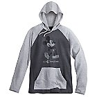 Mickey Mouse Long Sleeve Hooded Tee for Men - Walt Disney World - Gray
