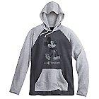 Mickey Mouse Long Sleeve Hooded Tee for Men - Walt Disney World - Gray