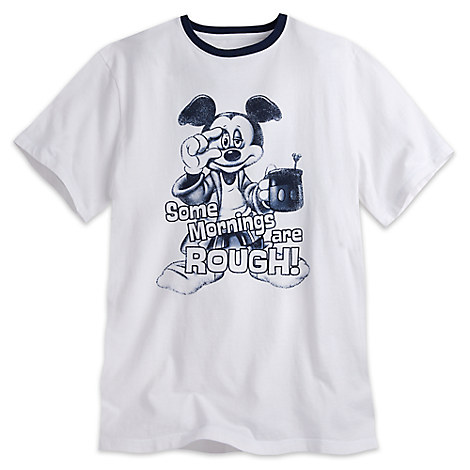 Mickey Mouse ''Some Mornings Are Rough'' Tee for Men