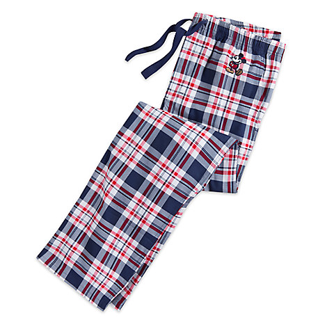 Mickey Mouse Plaid Lounge Pants for Men