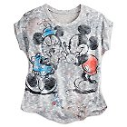 Mickey and Minnie Mouse Dolman Knit Top for Women