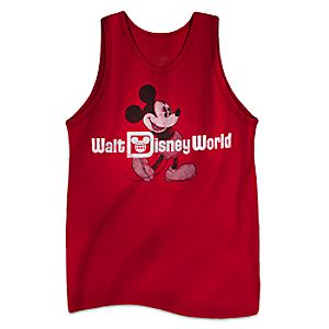 Mickey Mouse Classic Tank Tee for Adults - Walt Disney World - Red