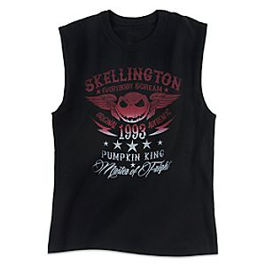Jack Skellington Sleeveless Tee for Adults