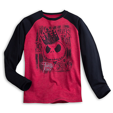 Jack Skellington Long Sleeve Raglan Tee for Men