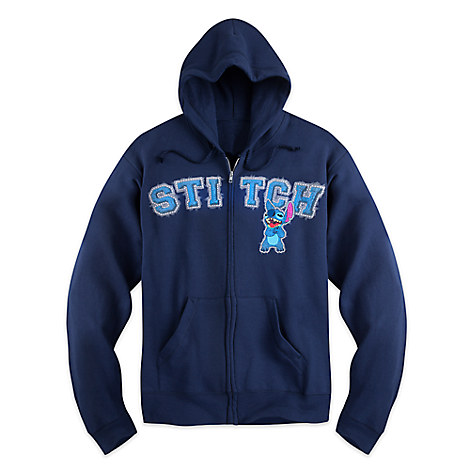 Stitch Zip Hoodie for Adults