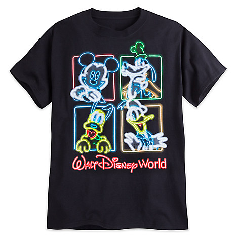 Mickey Mouse and Friends Neon Tee for Adults - Walt Disney World