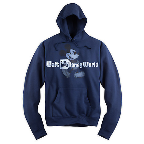 Mickey Mouse Classic Pullover Hoodie for Adults - Walt Disney World - Navy