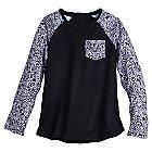 Mickey Mouse Rock 'n Roller Coaster Raglan Fashion Tee for Women