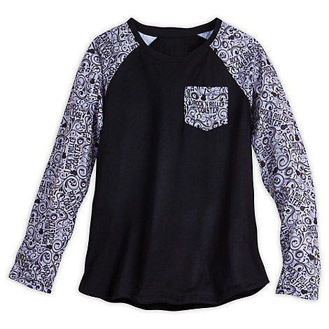 Mickey Mouse Rock 'n Roller Coaster Raglan Fashion Tee for Women