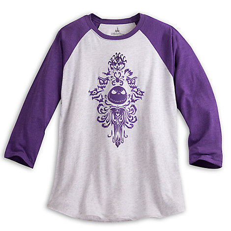 Jack Skellington Long Sleeve Raglan Tee for Women