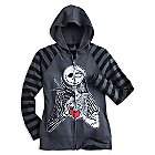 Jack Skellington and Sally Long Sleeve Raglan Hoodie for Women