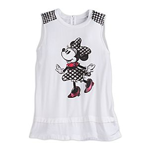 Minnie Mouse Sleeveless Fashion Tee for Women