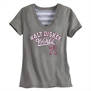 Walt Disney World Collegiate Fashion Tee for Women